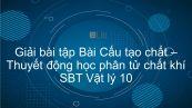 Giải bài tập SBT Vật Lí 10 Bài 28: Cấu tạo chất. Thuyết động học phân tử chất khí