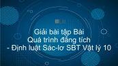 Giải bài tập SBT Vật Lí 10 Bài 30: Quá trình đẳng tích. Định luật Sác-lơ