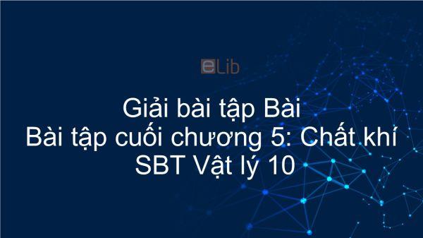 Giải bài tập SBT Vật Lí 10 Bài tập cuối chương V: Chất khí