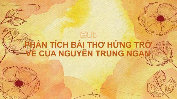 Phân tích bài thơ Hứng trở về của Nguyễn Trung Ngạn