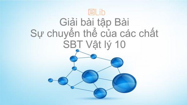 Giải bài tập SBT Vật Lí 10 Bài 38: Sự chuyển thể của các chất