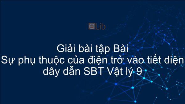 Giải bài tập Giải SBT Vật Lí 9 Bài 8: Sự phụ thuộc của điện trở vào tiết diện dây dẫn