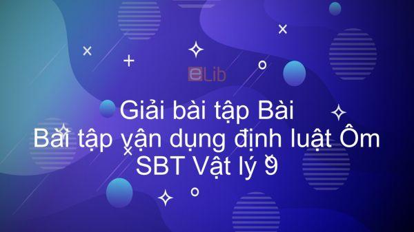 Giải bài tập SBT Vật Lí 9 Bài 6: Bài tập vận dụng định luật Ôm