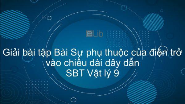 Giải bài tập SBT Vật Lí 9 Bài 7: Sự phụ thuộc của điện trở vào chiều dài dây dẫn