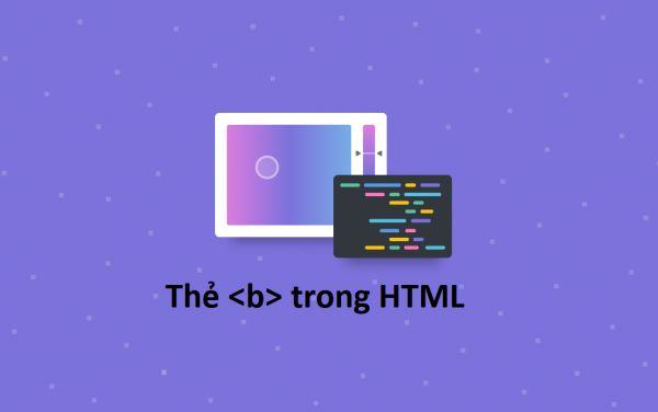 Thẻ b trong HTML