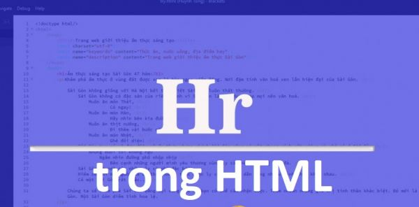 Thẻ HR trong HTML