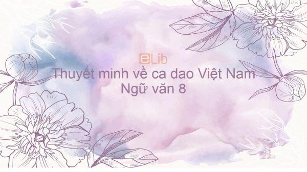 Thuyết minh về ca dao Việt Nam