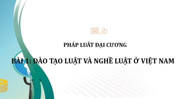 Bài 1: Đào tạo luật và nghề luật ở Việt Nam