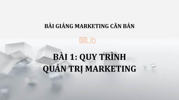 Bài 1: Quy trình quản trị Marketing