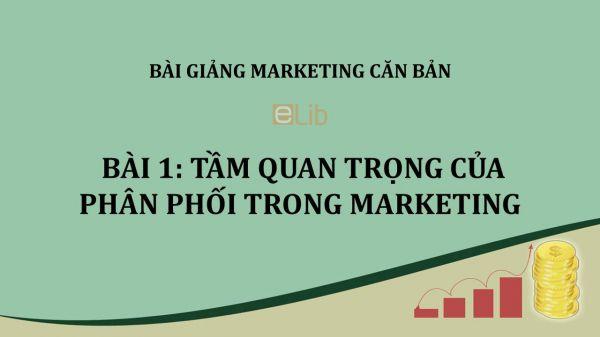 Bài 1: Tầm quan trọng của phân phối trong Marketing