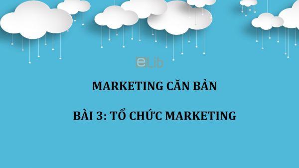 Bài 3: Tổ chức Marketing