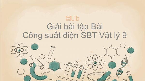 Giải bài tập SBT Vật Lí 9 Bài 12: Công suất điện