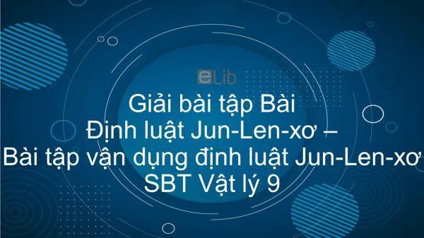 Giải bài tập SBT Vật Lí 9 Bài 16 - 17: Định luật Jun - Len-xơ. Bài tập vận dụng định luật Jun - Len-xơ