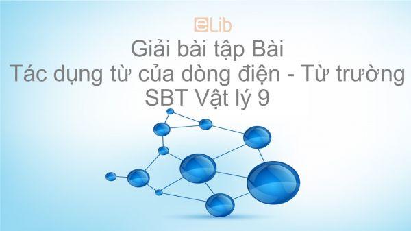 Giải bài tập SBT Vật Lí 9 Bài 22: Tác dụng từ của dòng điện - Từ trường