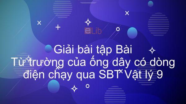 Giải bài tập SBT Vật Lí 9 Bài 24: Từ trường của ống dây có dòng điện chạy qua