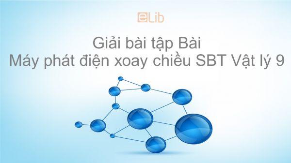 Giải bài tập SBT Vật Lí 9 Bài 34: Máy phát điện xoay chiều