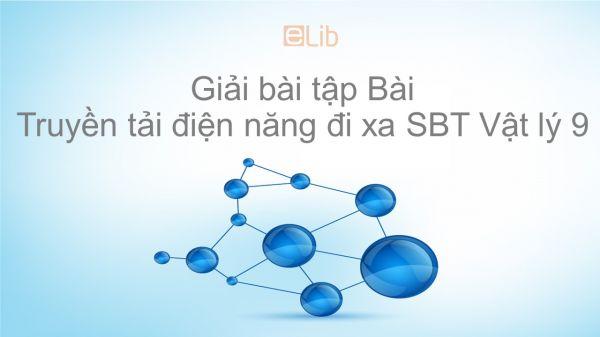 Giải bài tập SBT Vật Lí 9 Bài 36: Truyền tải điện năng đi xa