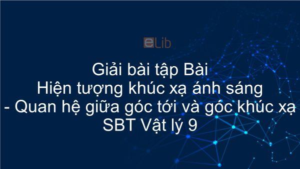 Giải bài tập SBT Vật Lí 9 Bài 40 - 41: Hiện tượng khúc xạ ánh sáng. Quan hệ giữa góc tới và góc khúc xạ