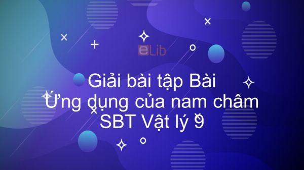 Giải bài tập SBT Vật lý 9 Bài 26: Ứng dụng của nam châm