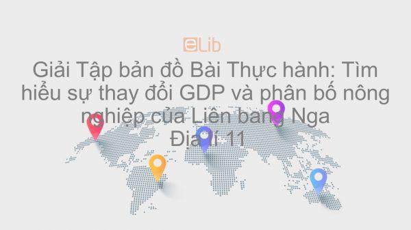Giải Tập bản đồ Địa lí 11 Bài 8: Thực hành: Tìm hiểu sự thay đổi GDP và phân bố nông nghiệp của Liên bang Nga
