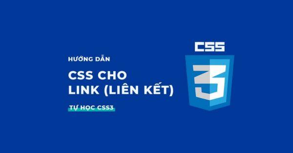 Tạo kiểu, viết CSS cho Link