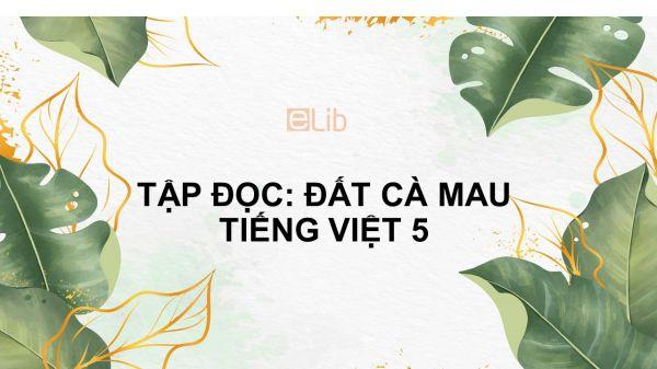 Tập đọc: Đất Cà Mau Tiếng Việt 5