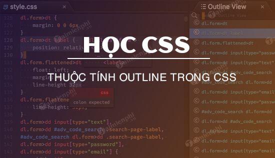 Thuộc tính outline trong CSS