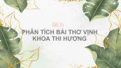 Phân tích bài thơ Vịnh khoa thi Hương của Tú Xương