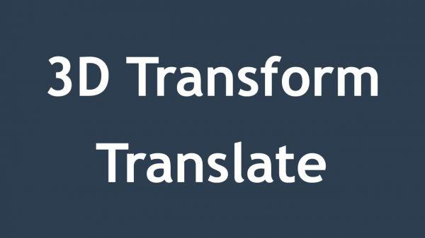 3D Transform trong CSS