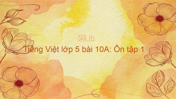 Tiếng Việt lớp 5 bài 10A: Ôn tập 1