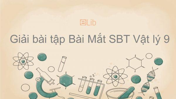 Giải bài tập SBT Vật Lí 9 Bài 48: Mắt