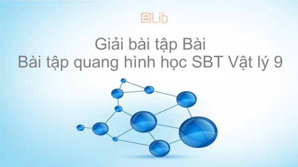 Giải bài tập SBT Vật Lí 9 Bài 51: Bài tập quang hình học