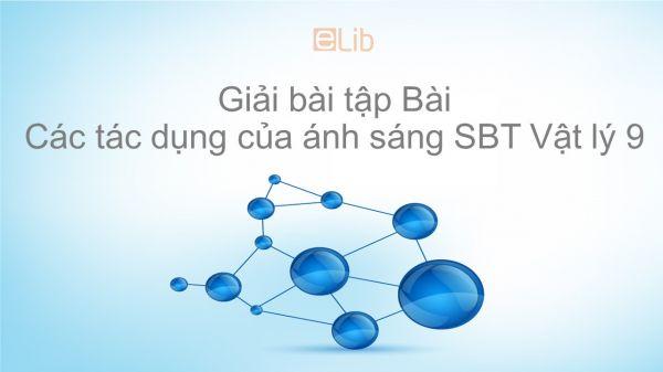 Giải bài tập SBT Vật Lí 9 Bài 56: Các tác dụng của ánh sáng