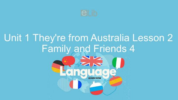 Unit 1 lớp 4: They're from Australia - Lesson 2