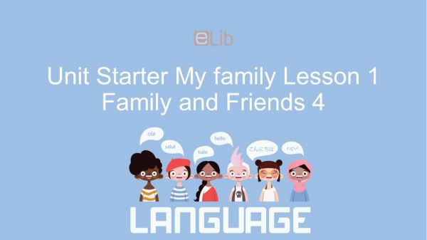 Unit Starter lớp 4: My family - Lesson 1