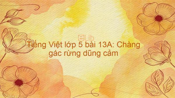 Tiếng Việt lớp 5 bài 13A: Chàng gác rừng dũng cảm