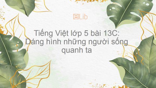 Tiếng Việt lớp 5 bài 13C: Dáng hình những người sống quanh ta