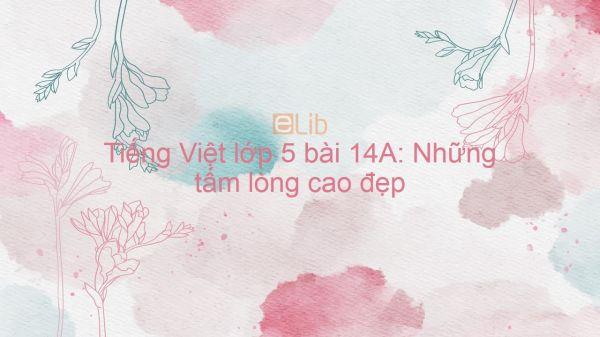 Tiếng Việt lớp 5 bài 14A: Những tấm lòng cao đẹp