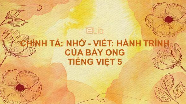Chính tả Nhớ - viết: Hành trình của bầy ong Tiếng Việt 5