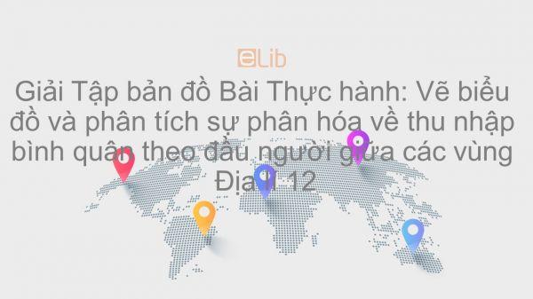 Giải Tập bản đồ Địa lí 12 Bài 19: TH: Vẽ biểu đồ và phân tích sự phân hóa về thu nhập bình quân theo đầu người