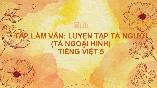 Tập làm văn: Luyện tập tả người (Tả ngoại hình - tiếp theo) Tiếng Việt 5