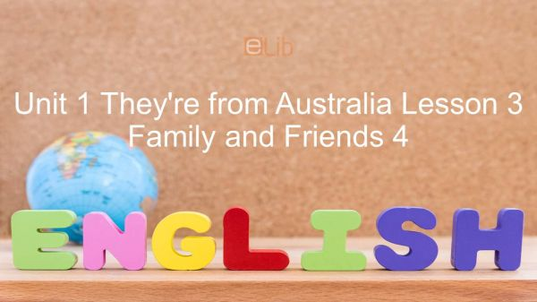 Unit 1 lớp 4: They're from Australia - Lesson 3