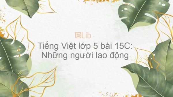 Tiếng Việt lớp 5 bài 15C: Những người lao động
