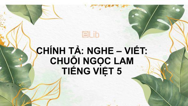 Chính tả Nghe - viết: Chuỗi ngọc lam Tiếng Việt 5