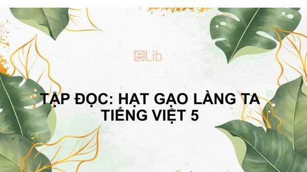 Tập đọc: Hạt gạo làng ta Tiếng Việt 5