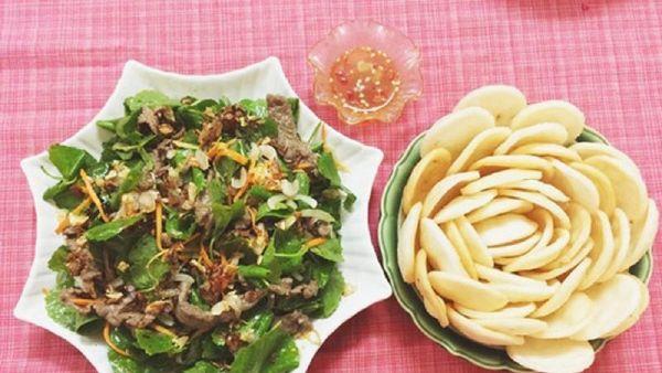 Mách bạn cách làm món gỏi rau má trộn thịt bò cực ngon tại nhà