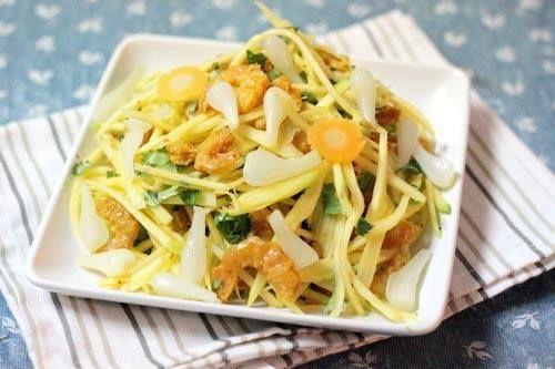 Hướng dẫn cách làm món gỏi tôm sống kiểu Thái chua ngọt giòn giòn