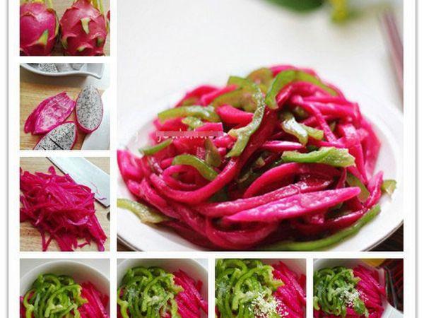 Mách bạn cách làm món salad vỏ thanh long thanh mát cho gia đình vào ngày hè