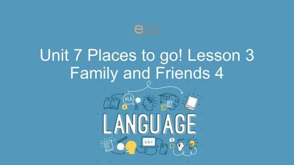 Unit 7 lớp 4: Places to go! - Lesson 3