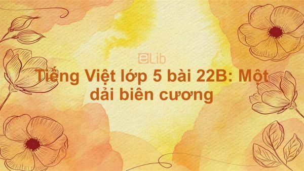 Tiếng Việt lớp 5 bài 22B: Một dải biên cương